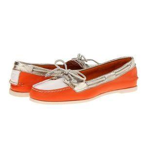 Sperry | Audrey Tri-Tone Boat Shoe Orange 11 M